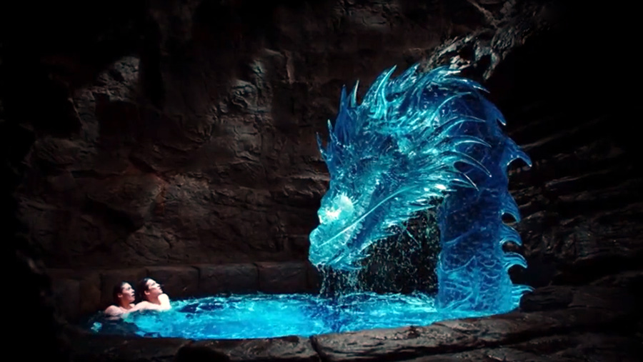 Mako Mermaids season 3 - Zac, Evie and the dragon