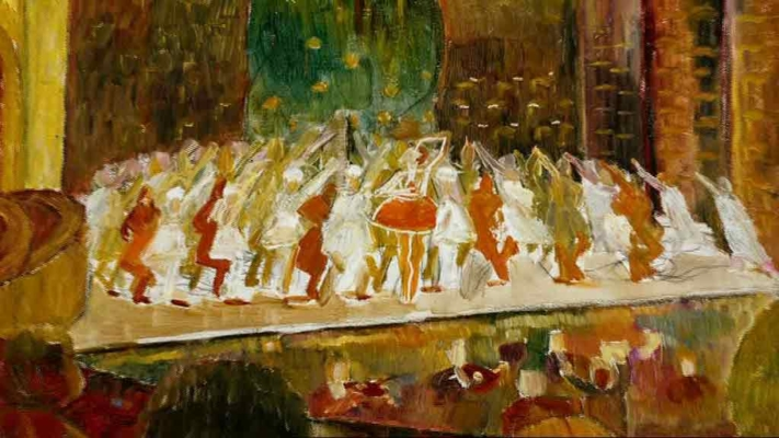 ballet-painting - A Thousand Encores - The Ballets Russes in Australia